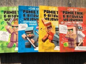 """Do wygrania są 2 x 4 tomy serii """"Pamiętanik 8-bitowego wojownika"""" (fot. mat. SilesiaDzieci.pl)"""
