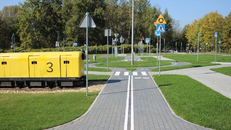 Miasteczko ruchu drogowego powstało przy ul. Kolberga w Rudzie Sląskiej (fot. UM w Rudzie Śląskiej)