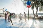 Z atrakcji wodnego placu zabaw w Paprocanach korzystać można bezpłatnie przez cały letni sezon (fot. mat. organizatora)