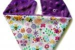 Firma EkoUbranka proponuje ciepłe apaszki, poduszki antywstrząsowe dla niemowlaków, jak również maskotki-metkowce (fot. materiały EkoUbranka)