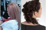 Oprócz luźno upiętych, czasem asymetrycznie włosów (zdjęcie po prawej) nowością w tym sezonie będą metaliczne odcienie blondów (zdjęcie po lewej) (fot. Małgorzata Czarnecka)