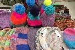 Rozpoczął się sezon na czapki i opaski. Na stoisku melome był ogromny ich wybór (fot. mat. SilesiaDzieci.pl)
