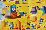 """""""Roboty"""" to picturebook z rewelacyjnymi planszami autorstwa Pawła Kłudkiewicza (fot. Ewelina Zielińska)"""