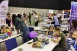 Dzięki Zgranej Rodzinie dzieci mogły zagrać w klasyczne gry planszowe (fot. SilesiaDzieci.pl)