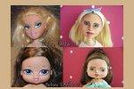 Lalki przed i po metamorfozie (fot. Ignatow Repainted Dolls)