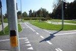 Miasteczko ruchu drogowego to świetne miejsce do nauki zasad poruszania się rowerem lub pieszo po drodze (fot. UM w Rudzie Śląskiej)