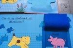 Książeczka to krótki tekst, pytania, proste intensywne kolory, i elementy ukryte za okienkami (fot. mat. Ewelina Zielińska/SilesiaDzieci.pl)