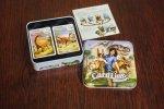 Na grę składa się ponad 100 dwustronnych kart z ilustracjami dinozaurów i informacjami o nich (fot. Ewelina Zielińska)