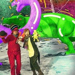 """""""Teo, śląski dinozaur"""" to najnowszy spektakl Lufcika na korbkę (fot. FB Lufcik na korbkę)"""