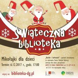 W te mikołajki Mikołaj odwiedzi też dąbrowską bibliotekę (fot. mat. MBP Dąbrowa Górnicza)