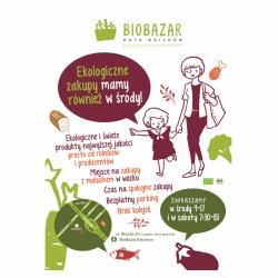 BioBazar odbywa się w każdą sobotę i środę. Środy polecane są szczególnie mamom z dziećmi (fot. mat. organizatora)