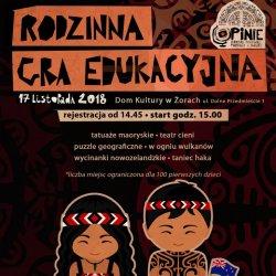 Dzięki rodzinnej grze edukacyjnej, zorganizowanej w MOK w Żorach, dzieci poprzez zabawę poznają ten piękny kraj (fot. mat. organizatora)
