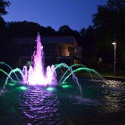 Fontanna mieniąca się kolorami to piękny widok (fot. materiały prasowe)