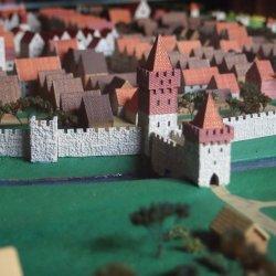 Makieta średniowiecznego Bytomia znajdująca się w Muzeum Górnośląskim (fot. Małgorzata Iwanek)