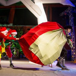 """Na scenie najmłodsi zobaczą przedstawienie """"Grinch i Drzewo Elfów"""" (fot. mat. organizatora)"""