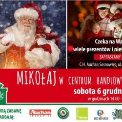 Mikołaj odwiedzi Centrum Handlowe Auchan w Sosnowcu (fot. mat. organizatora)