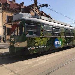 Zielony tramwaj będzie jeździł ulicami miast aglomeracji śląskiej do 21 października (fot. mat. prasowe)