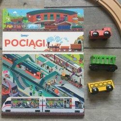 """""""Pociągi"""" to kolejna, po """"Autach"""" i """"Na budowie"""" - wielkoformatowa """"kartonówka"""" (fot. Ewelina Zielińska/SilesiaDzieci.pl)"""