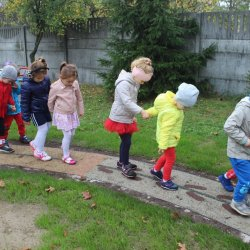 Na ścieżce można zniwelować część wad postawy najmłodszych (fot. mat. UM Ruda Śląska)