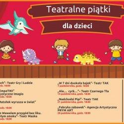 Teatralne Piątki to bezpłatne spektakle dla dzieci w Miejskiej Bibliotece Publicznej w Dąbrowie Górniczej (fot. mat. organizatora)