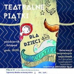 Bezpłatne spektakle odbędą się w Bibliotece Głównej i Filii nr 8 w Dąbrowie Górniczej (fot. mat. organizatora)