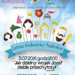 Letnie Podwórko Teatralne to bezpłatne spektakle organizowane przez Piaskownicę Kulturalną (fot. mat. organizatora)