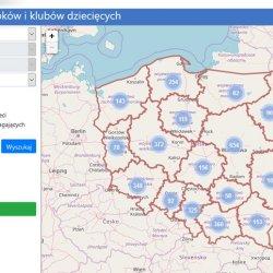 Dzięki mapie szybko i łatwo znajdziecie instytucje, które są blisko Waszego miejsca zamieszkania (fot. print screen strony empatia.mpips.gov.pl)
