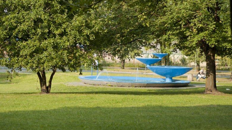Fontanna z Parku Niedźwiadków zmieni się w donice, powstanie też zupełnie nowa fontanna (fot. mat. UM Tychy)