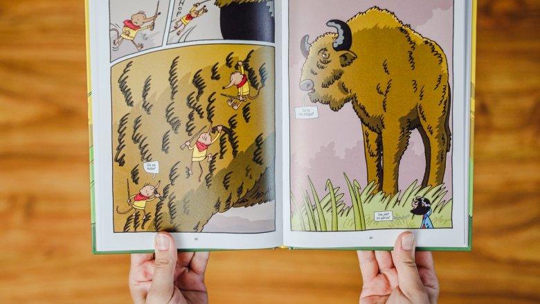 W tym komiksie nie mogło zabraknąć majestatycznych żubrów (fot. Ewelina Zielińska)