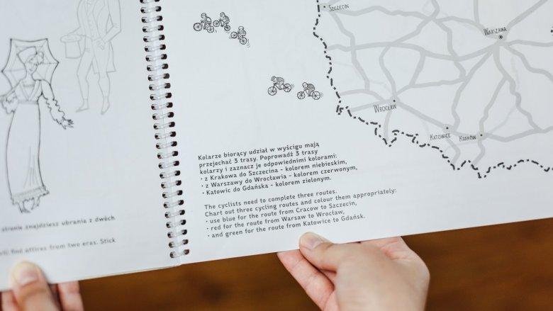 Dzięki konturowym mapom dzieci przyswoją również podstawowe wiadomości z geografii Polski (fot. Ewelina Zielińska)