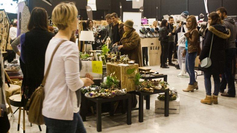 Zielona Wrona prezentowała najzieleńsze stoisko na targach (fot. mat. FB Silesia Bazaar)
