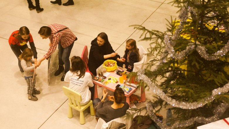 Najmłodsi mogli pomalować sobie buzie (fot. mat. FB Silesia Bazaar)