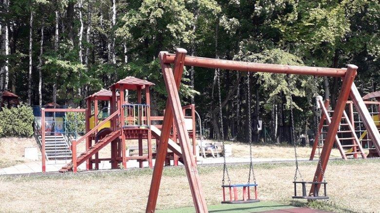 Park Księża Góra mieści się przy ul. Księżogórskiej w Radzionkowie (fot. Agnieszka Mróz/SilesiaDzieci.pl)