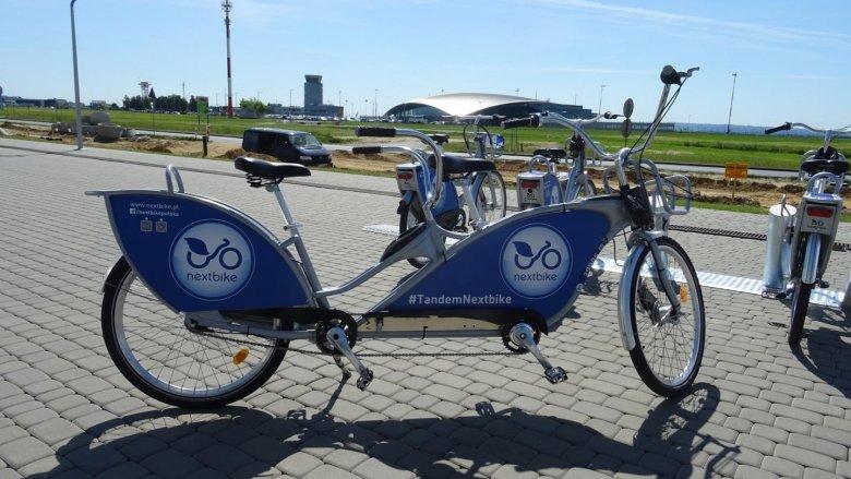 Tandemy to jedna z tegorocznych nowości w tyskim systemie wypożyczania rowerów (fot. mat. UM Tychy)