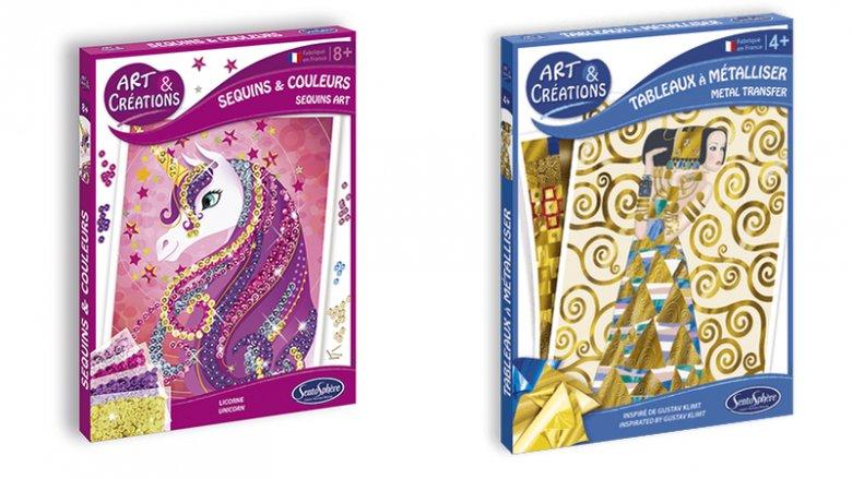Fanów błyskotek i blasku z pewnością zainteresują pełne przepychu i kolorów zestawy z cekinami czy dziełami Klimta (fot. Plac Francuski)