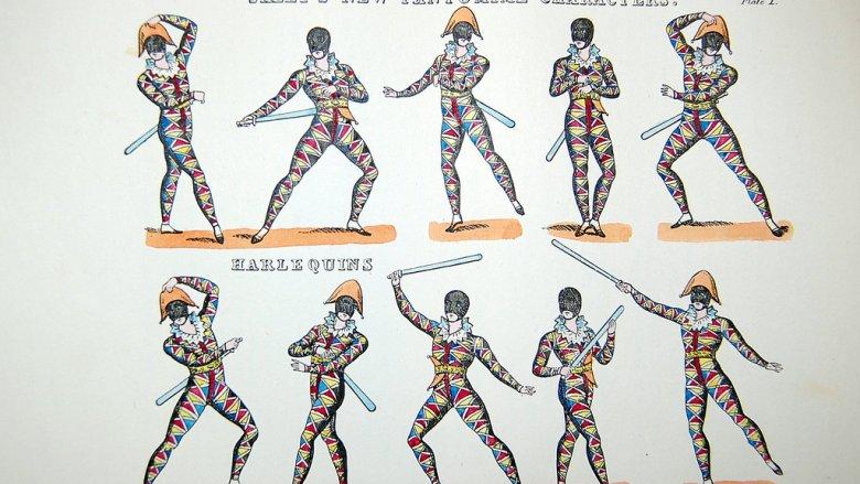 Arlekin to typowa postać w teatrze komedii dell'arte i na pewno pojawi się na warsztatach (fot. foter.com)
