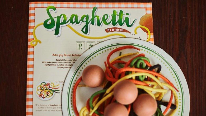 """""""Spaghetti"""" to zręcznościowa gra rodzinna inspirowana włoską kuchnią od wydawnictwa Granna (fot. Ewelina Zielińska)"""