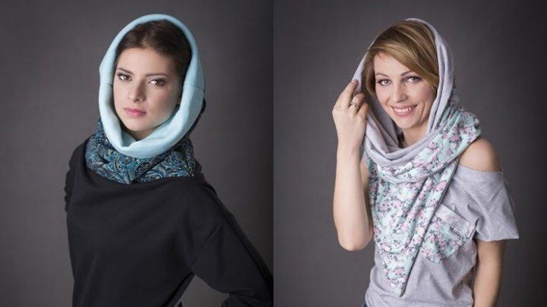 """Kolekcja """"Anielika"""" firmy Super Gizd to m.in. fikuśne bluzy z ciekawymi kominami (fot. mat. Super Gizd)"""