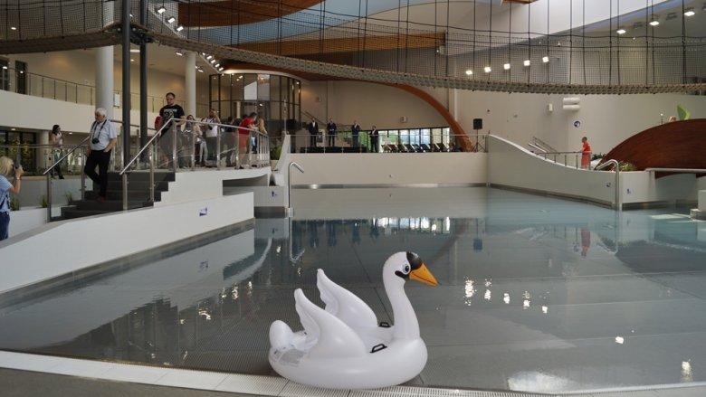Jeden z basenów Parku Wodnego Tychy posiada ruchome dno (fot. SilesiaDzieci.pl)