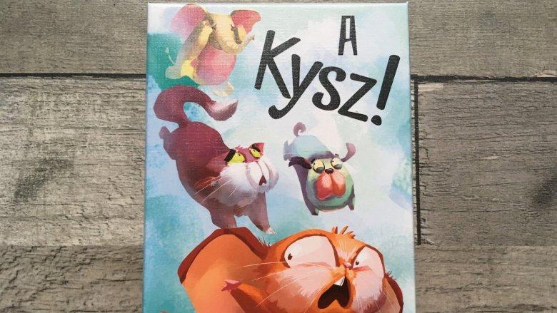 """Gra karciana """"A kysz!"""" to idealna zabawa dla młodszych dzieci (fot. Ewelina Zielińska/SilesiaDzieci.pl)"""