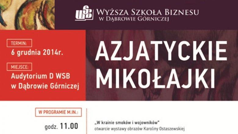 WSB zaprasza na mikołajki w azjatyckim stylu (fot. mat. organizatora)