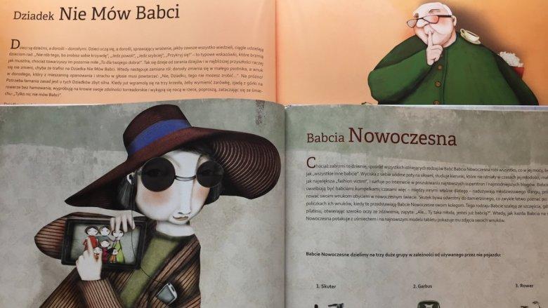 """""""Dziadkowie od A do Z"""" i """"Babcie od A do Z""""  to książki, które w cudowny sposób zacieśniają rodzinne więzi (fot. Ewelina Zielińska / SilesiaDzieci.pl)"""