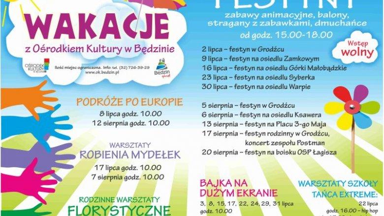 Ośrodek Kultury w Będzinie zaprasza na ciekawe zajęcia wakacyjne (fot. materiały prasowe)