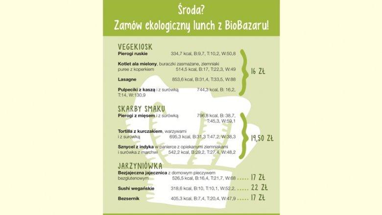W BioBazarze można też zamówić gotowy lunch (fot. mat. BioBazaru)