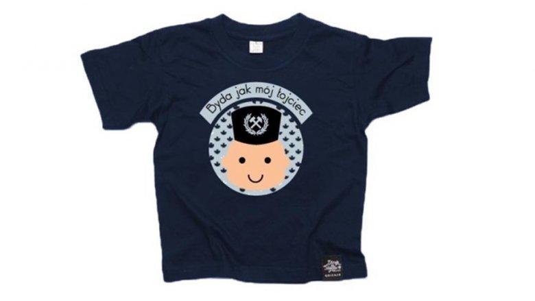 """Jedną z nagród w naszym konkursie jest koszulka z hasłem """"Byda jak mój łojciec"""" rozm. 1-2 latka (fot. Qdizajn)"""