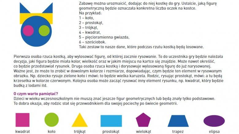 Pierwszą zabawą jest geometryczne rysowanie - można ją dowolnie modyfikować (fot. mat. koduj.gov.pl)