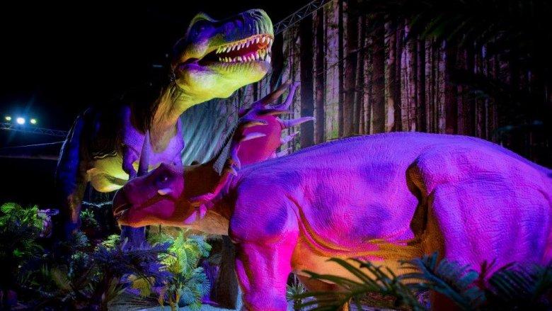 """""""Dinozaury na żywo"""" można oglądać w Śląskim Centrum Targowym do 12 czerwca (fot. mat. organizatora)"""
