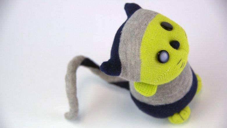 Kieszonkowe przytulanki ze... skarpetek są świetnym pomysłem na prezent. Można je kupić na Byangie24.blogspot.com (fot. materiały Angeliki Szewczyk)