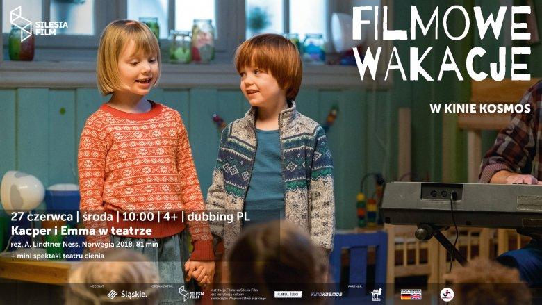 """""""Kacper i Emma w teatrze"""" to czerwcowa propozycja kina Kosmos na filmowe wakacje (fot. mat. organizatora)"""