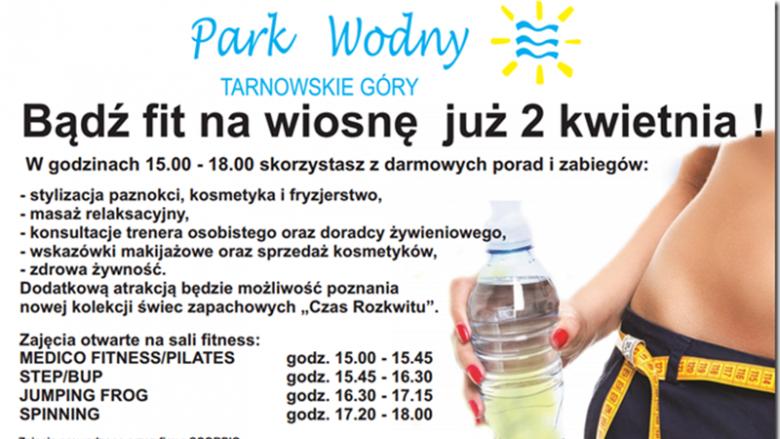 """Na bezpłatne spotkanie """"Bądź fit na wiosnę"""" zaprasza Park Wodny w Tarnowskich Górach (fot. mat. organizatora)"""